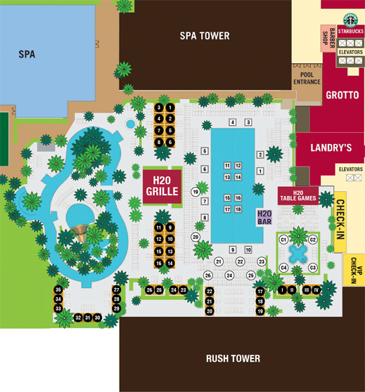 H20 Pool Map Golden Nugget Lake Charles