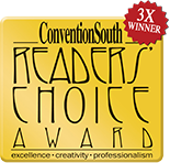 ConventionSouth Readers Choice Award 3X Winner